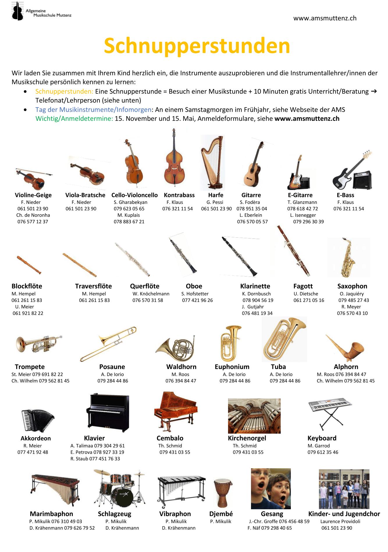 Instrumente kennenlernen grundschule